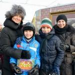 Миллионными  посетителями ярмарки «Остров где сбываются мечты» фестиваля «Путешествие в Рождество» стали сразу две московские семьи