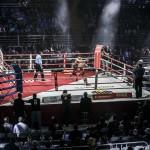 Бокс на арене московского дворца спорта «Мегаспорт» на Ходынке