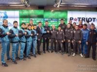 Официальная церемония взвешивания боксеров в преддверии матча команд Patriot Boxing Team (Россия) – Astana Arlans (Казахстан)