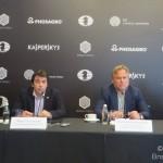 Пресс-конференция шахматного турнира года в центре Москвы
