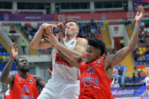 ЦСКА вырвал победу, уступая «Милану» 16 очков