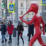 Арт — объект мобильного интернета на Петровском бульваре.
