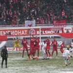 Снежное футбольное дерби.