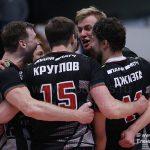 В матче лидеров волейбольной Суперлиги побеждают «железнодорожники»