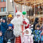 Всероссийский Дед Мороз из Великого Устюга встретился с гостями фестиваля «Путешествие в Рождество» на Манежной площади