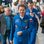 Встреча с экипажем МКС-63 накануне космической экспедиции в центре «Космонавтика и авиация» на ВДНХ