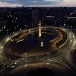 Новая подсветка преобразила главные въездные ворота Петербурга – площадь Победы