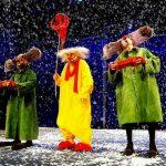 «Снежное шоу» Славы Полунина в Москве